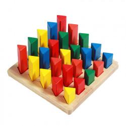ترتيب المثلثات بأحجام مختلفة