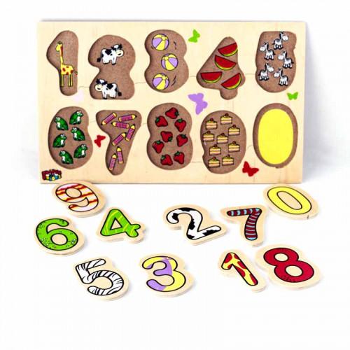 الأرقام الانجليزية الخشبية - ملون