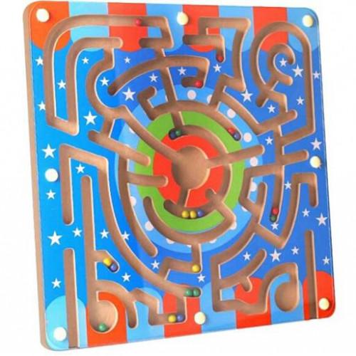 لعبة المتاهة الخشبية المغناطيسية