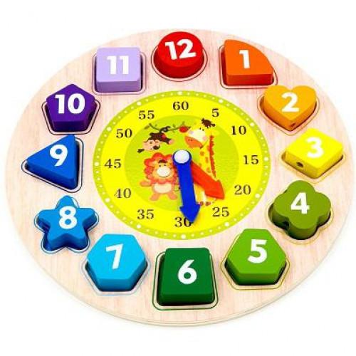 الساعة الخشبية التعليمية