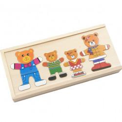 تركيب عائلة الدب الخشبية