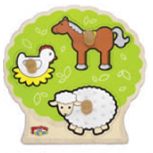 تركيب أشكال حيوانات المزرعة