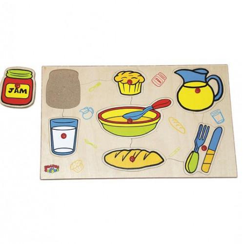 لوحة أدوات المائدة الخشبية