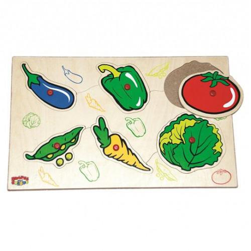 لوحة الخضروات الخشبية