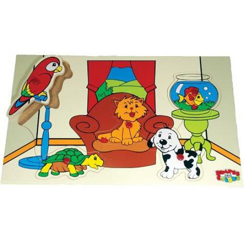 لوحة الحيوانات المنزلية الخشبية