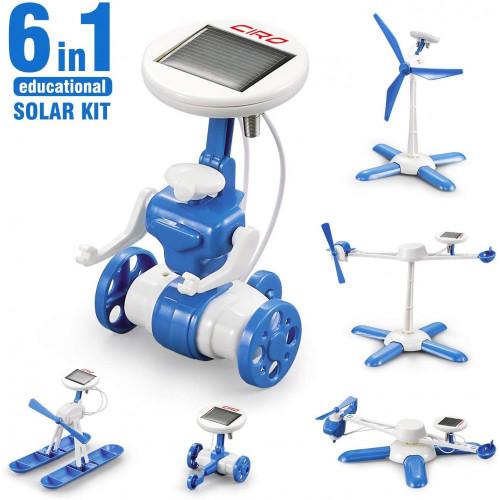 تركيب الروبوت وتحريكه بالطاقة الشمسية 6 في 1