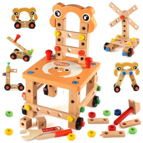 تركيب الكرسي الخشبي