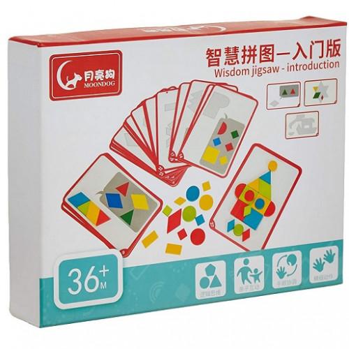 بطاقات تجميع الأشكال الخشبية