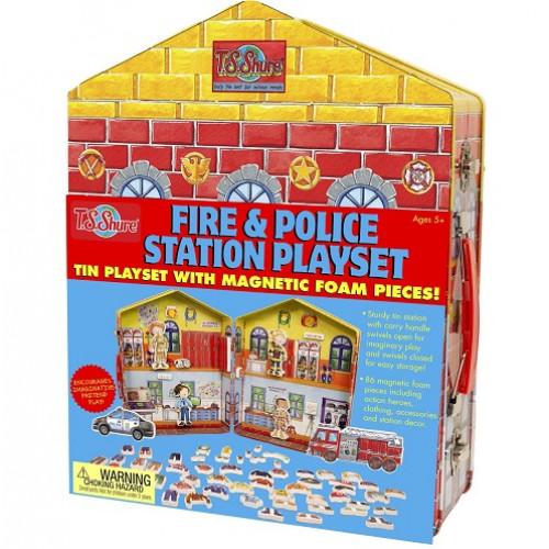 بيت الدمى المغناطيسية - الشرطة والإطفاء