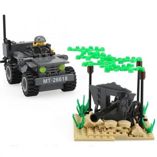 تركيب القطع - شاحنة الدفاع العسكرية