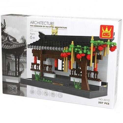 تركيب القطع - مبنى معماري صيني