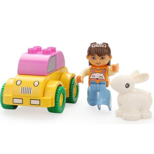 لعبة تركيب ليغو - السيارة والأرنب