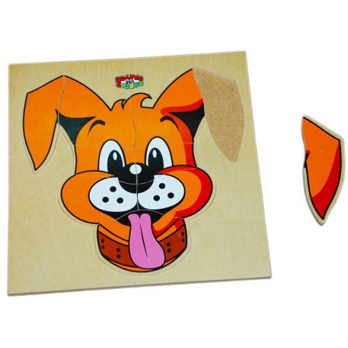 تركيب خشبي - وجه الكلب