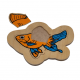 لوح تركيب خشبي - السمكة