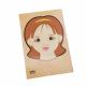 تركيب خشبي - وجه البنت