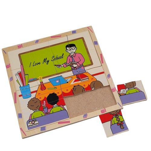 لوح تركيب خشبي - مهنة المعلم