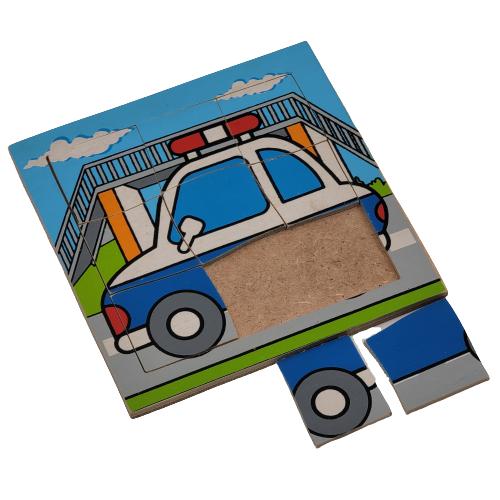 بزل خشبي - السيارة