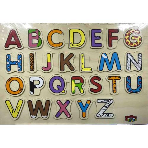 الحروف الانجليزية الخشبية - كابيتال ملون