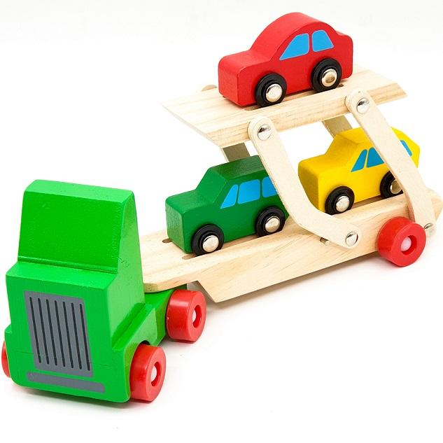 شاحنة السيارات الخشبية