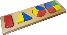 لعبة ترتيب الأشكال الخشبية