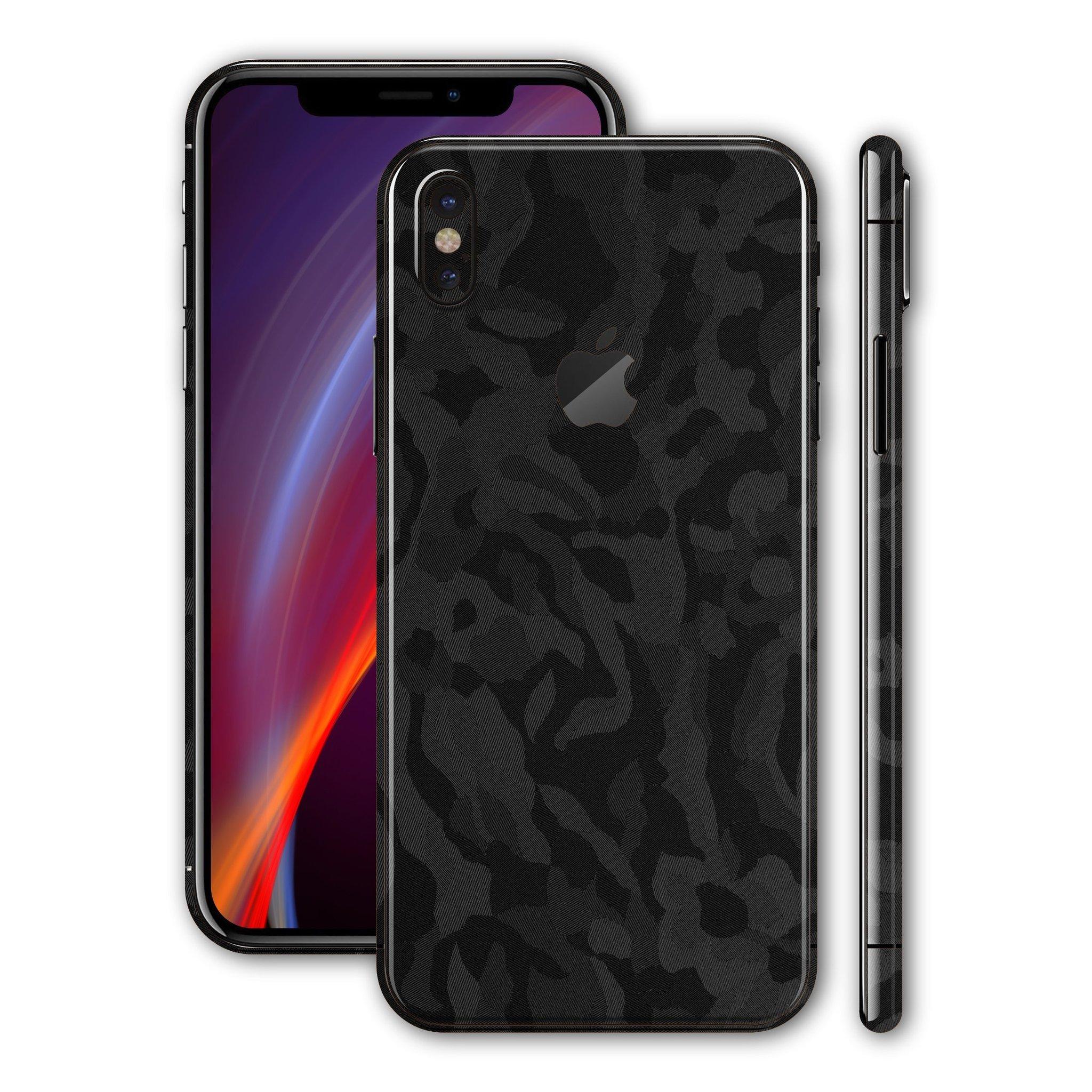 لاصق حماية ايفون XS - زخرفة سوداء