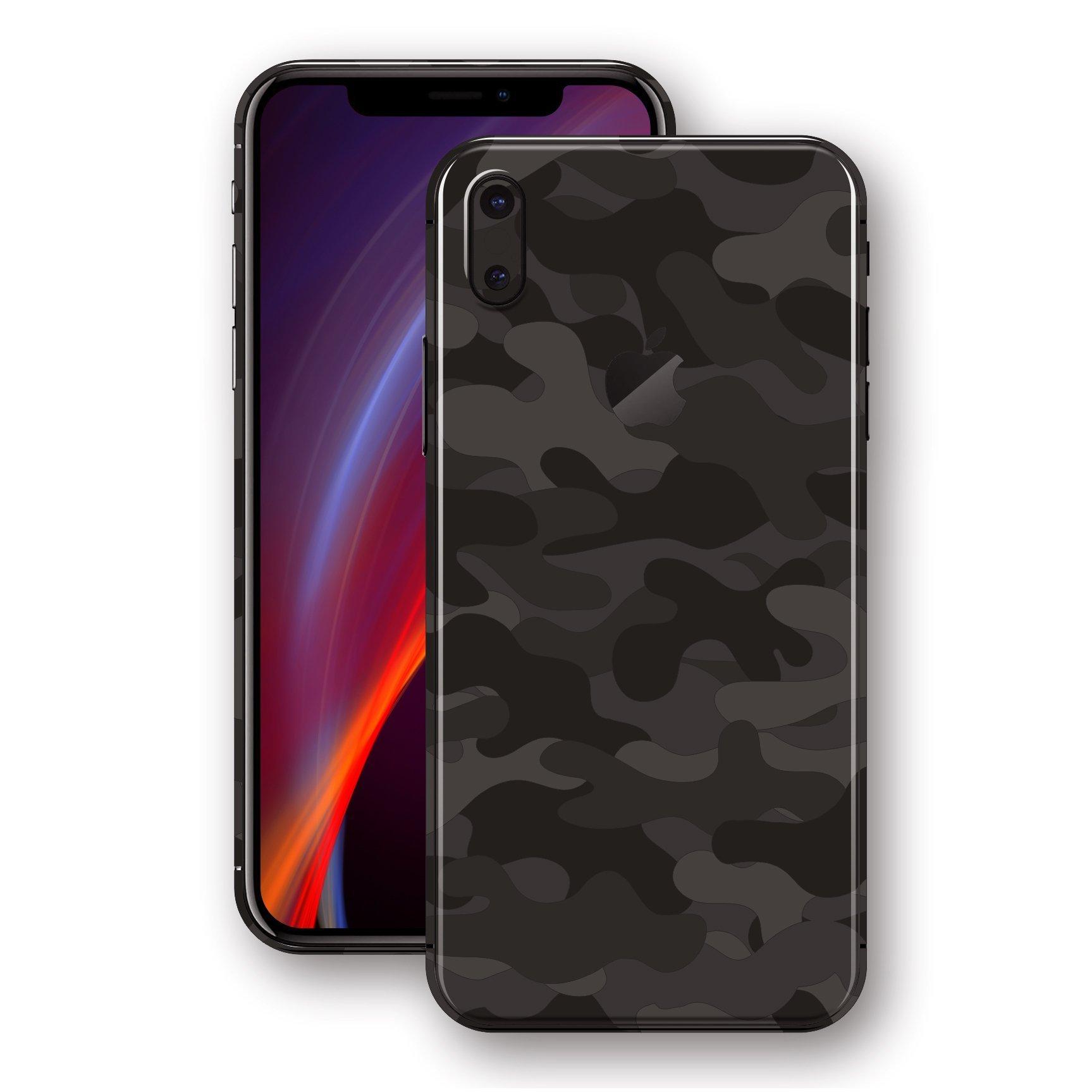 لاصق حماية ايفون XS - شكل موجات سوداء