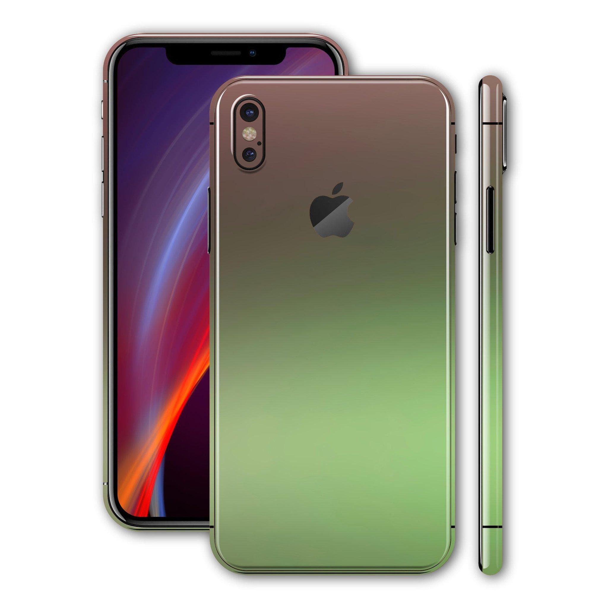 لاصق حماية ايفون XS MAX - شكل تدرجات الأخضر