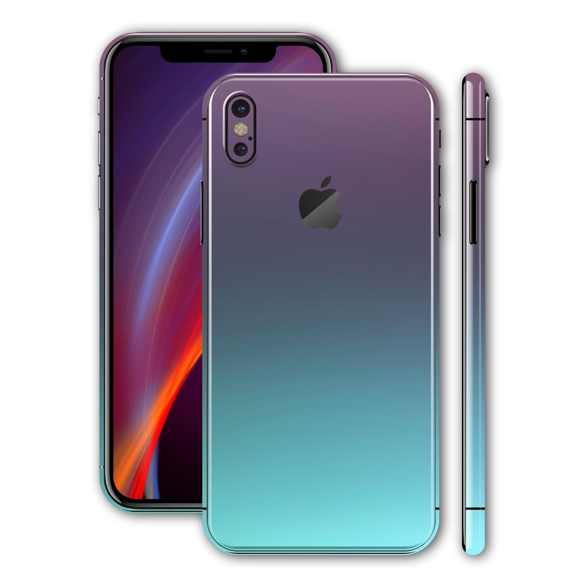 لاصق حماية ايفون XS MAX - شكل تركوازي